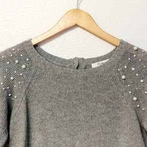 Forever 21 Pearl Embellished Sweater